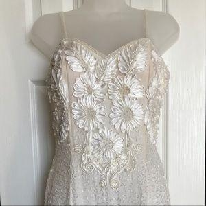 Alyce Designs vintage silk beaded dress BRIDAL